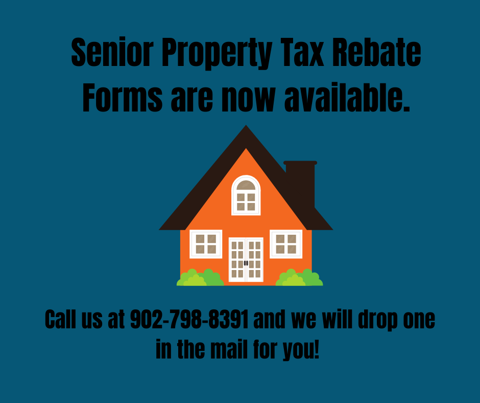 Senior Property Tax Rebate Forms are now available. 1